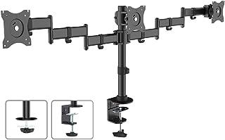 """Maclean MC-691 - Soporte Triple de Escritorio para 3 monitores LCD LED TV (13""""-27"""", 8kg, VESA 75 y 100)"""