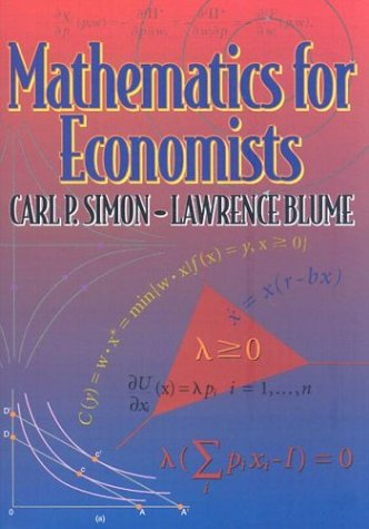Mathematics for Economistsの詳細を見る