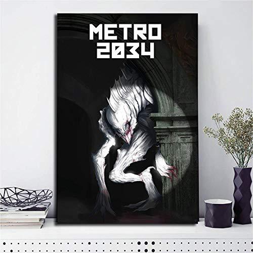 Modern Leinwand Malerei Spiel Poster Metro 2034 Leinwand Malerei Kunstwerke Last Light on Steam Drucke auf Wandkunst Bild für Wohnzimmer Home Decor 50 * 75cm