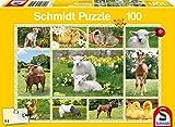 Schmidt Spiele 56194Animales Niños en Granja Puzzles, 100Piezas
