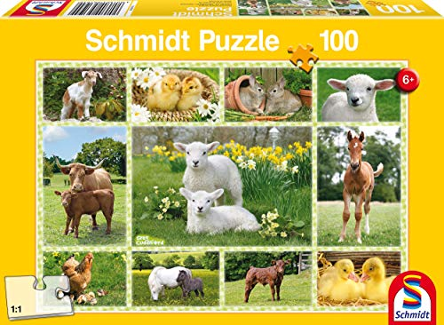 Schmidt- Puzzle Cuccioli nella Fattoria 100 Pezzi, 56194
