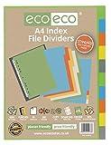 eco-eco eco073 A4 50% Reciclada Set 10 Divisores Archivo de Índice, Estándar