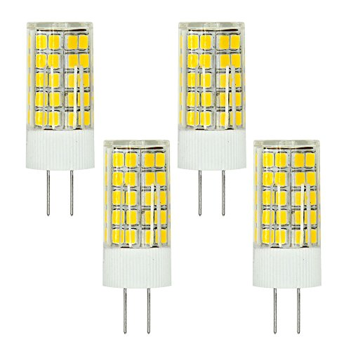 MENGS 4 Stück G4 LED Lampe 6W AC/DC 12V Warmweiß 3000K 63x2835 SMD Mit ACRYLIC und Keramic Material