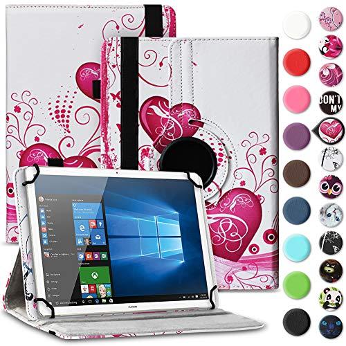 Nauci Tablet Hülle für Xido Z120 Z110 X111 X110 Tasche Schutzhülle Hülle Cover aus Kunstleder Standfunktion 360° Drehbar, Farben:Motiv 5