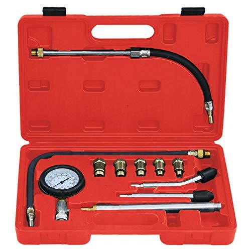 Tidyard Kit 12 pz Tester di Compressione per Motori a Benzina,Manometro Compressione Motore a Benzina