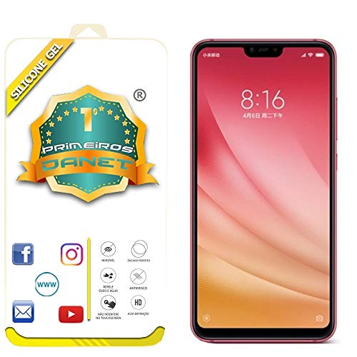 """Película De Gel Silicone Flexível Para Xiaomi Mi 8 Lite Tela 6.26"""" - Proteção Que Adere Em Toda A Tela - Danet"""