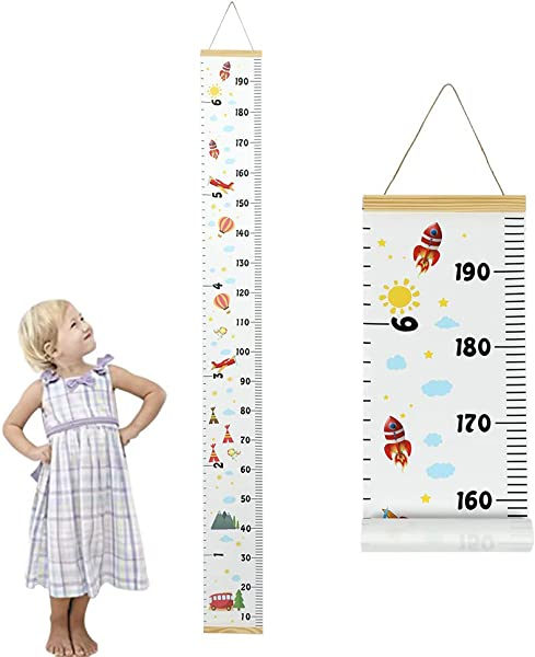 TAKEFUNS Baby Cartoon Growth Chart Art Hanging Ruler Wall Decor Removable Height Growth Chart Children S Room Decoration Hanging Pictures For Kids Room