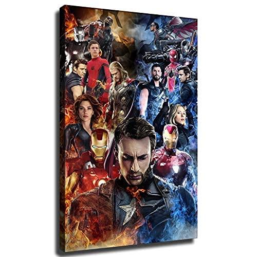 The Avengers Super Hero Posters HD Print Canvas Boy Girl Hero Fan Gift Room Office Wall Decoration Art Xirokey Art Santa Rona (16