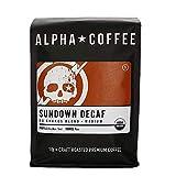 Alpha Coffee - Sundown Decaf | 16 oz. Premium Gourmet Craft Medium Roast Ground Coffee | Veteran Owned - 100% Arabica No Shake Blend | Specialty Small Batch Roasted Coffee