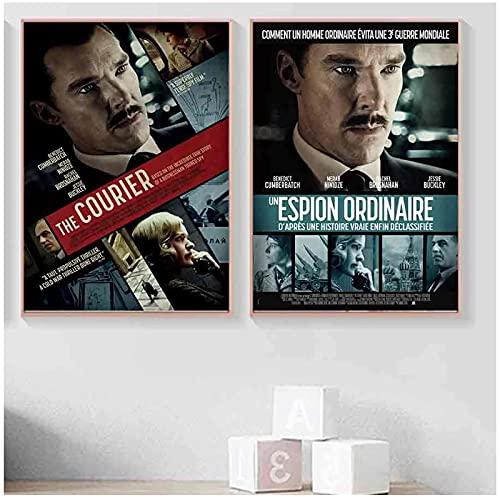Kurier film sztuka dekoracja jedwabny plakat nadruk dekoracja pokoju obraz płótno niestandardowe -50 x 70 cm x 2 szt. - bez ramki