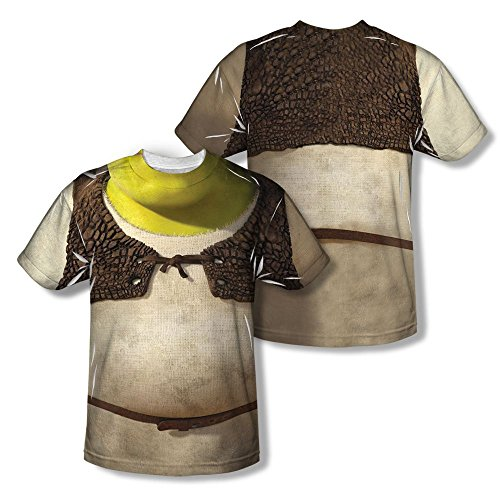 Sons of Gotham Shrek Costume Adult All Over Print 100% Poly T-Shirt 2XL White