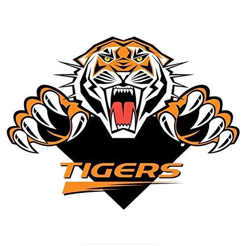 Etiqueta engomada del Coche de Tiger Enojado Divertido de la Cubierta del Cuerpo del automóvil Dibujar Lara (Color : 1)