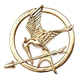 Orion Creations Hunger Games Mockingjay. Spilla di Tono d'oro