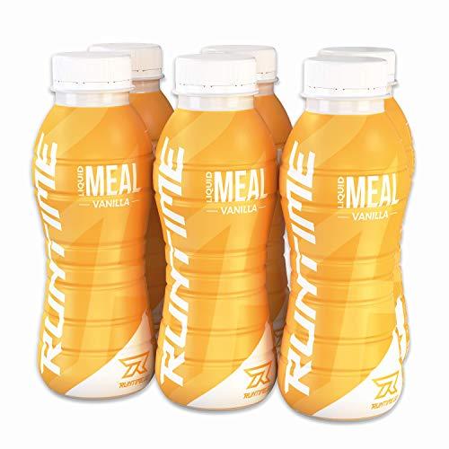 Runtime Liquid Meal (Vanilla) - vollwertiger Nahrungsersatz und Mahlzeitenersatz mit Vitaminen und Nährstoffen, 6 x 330ml