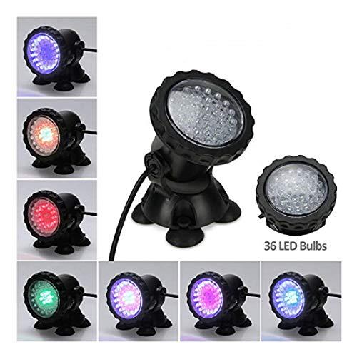 GJ688 Wasserdicht IP68 RGB 36 LED Unterwasser Projektor-Scheinwerfer für Pool Brunnen Teich Wassergarten Aquarium,A