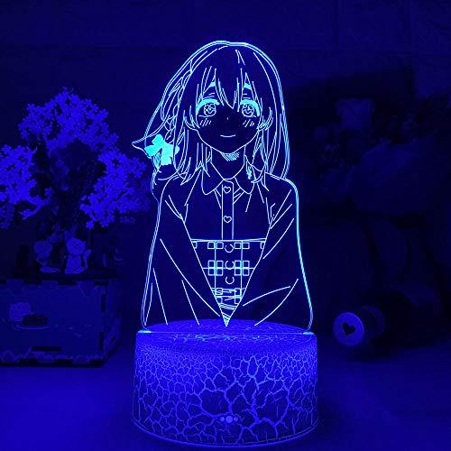 Luz de noche 3D Anime Okarishimasu Sumi Sakurasawa Luz Led para Giftlight Waifu Sumi Rent A Girlfriend for Home Dormitorio Lámpara de mesa