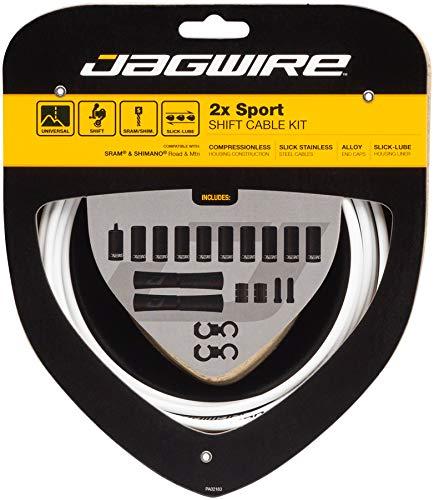 Jagwire 2X Sport Shift - Juego de Fundas y Cables de Cambio para Adulto, Unisex, Color Blanco, Talla única