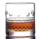 Occhiali da Whisky antiquata, Eccellente per Cocktail Bourbon Rocks glattishware 400ml barware,A