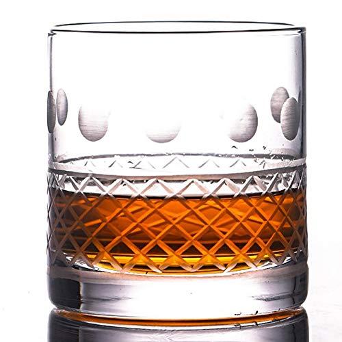 Vidrios de Whisky Antiguos, excelente para cócteles Bourbon Rocks Glassware 400ml Barware,A