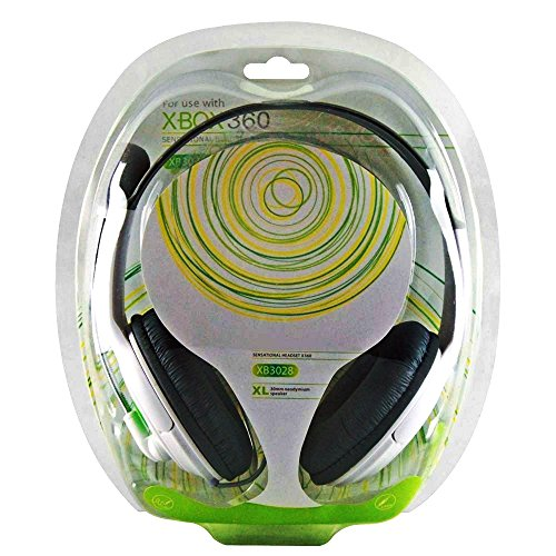 REY Cascos Auricular con Micro para Microsoft Xbox 360, Auriculares con Micrófono Xbox360