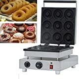 INTBUYING 9pcs Donut Making Machine Commercial 110V Nonstick Waffle Electric Mini Doughnut Baker Donut Maker...