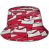 Henry Anthony Polonia Flag Wave Collage Bucket Hat Summer UV Sun Fisherman Cap Unisex para Viajes Playa al Aire Libre