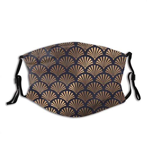 Unisex-Mundschutz, Art-Deco-Muschel Wiederverwendbares Stoffgesicht Bandana Protect Cover Atmungsaktive Sturmhaube-one_color-