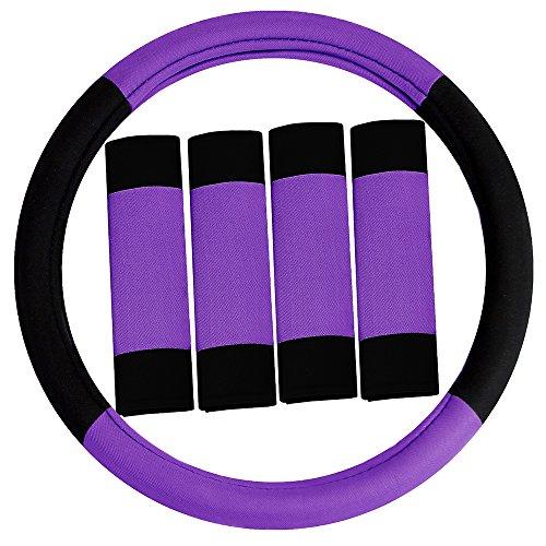 FH集团FH2033PURPLE方向盘套(现代主义和安全带垫二合一套装紫)