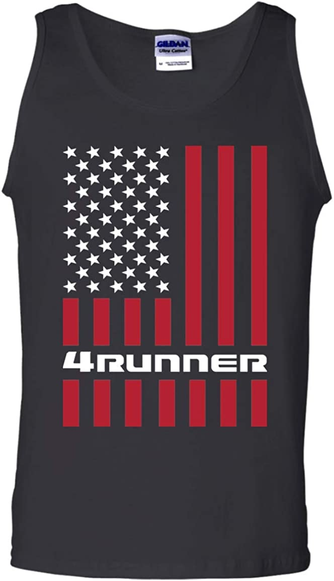 WheelSpinAddict Men's 4Runner TRD SR5 Tank USA Popular Flag Top American latest