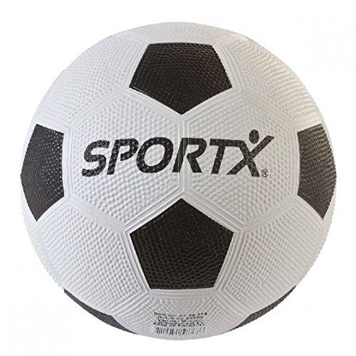SPORTX Fußball Gummi 380 Gramm Gummiweiß