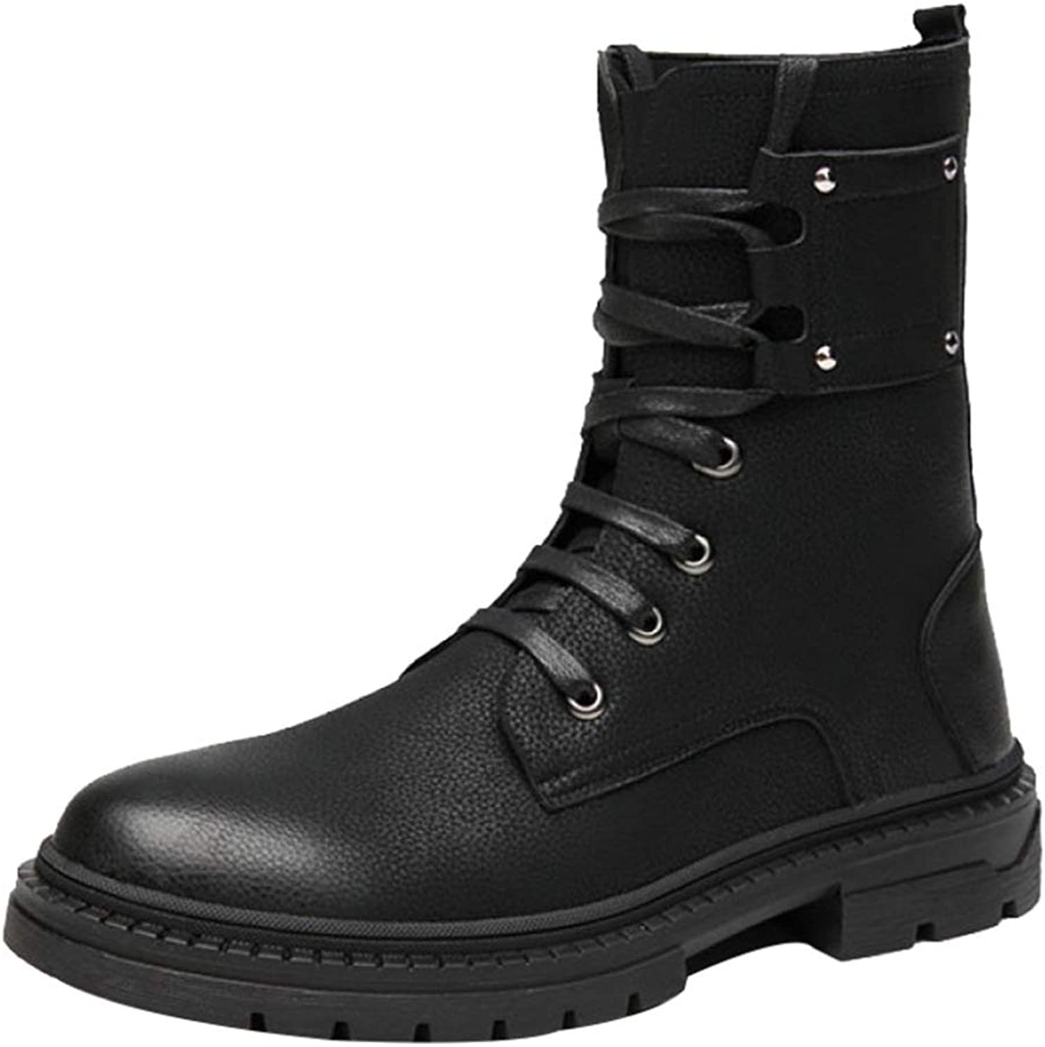 Men's Martin shoes Long Riding Boots Casual Tall Leather Boots Winter Outdoor Fashion shoes