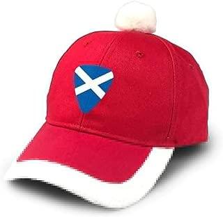 Scotland Flag Guitar Christmas Xmas Hat Cap Santa Cap Holiday Party Baseball Cap Red