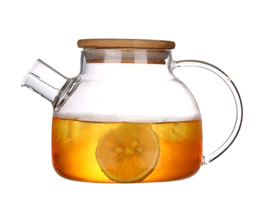 不正直ノイズプレゼンター(エスディアイ) 耐熱ガラスポット 冷水筒 ガラスピッチャー ケトル 麦茶ポット 1000ML~1600 ml大容量 (1000ML)