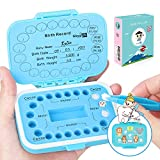 Baby Teeth Keepsake Box,Tooth Fairy,Lost Deciduous Tooth Collection Organizer,Cute Children Tooth Fetal Hair Umbilical Container,Saving Baby Teeth,Keep The Kids Memory,Record Their Growth Process