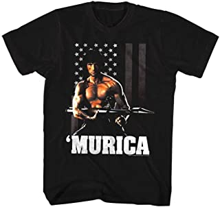 Official Rambo USA Distressed Flag T-Shirt Movie Merch First Blood Sylvester Sta