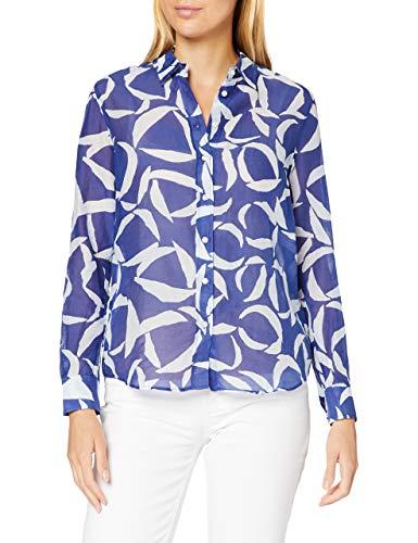 GANT Damen D1. Crescent Bloom CO Silk Shirt Bluse, Crisp Blue, 46