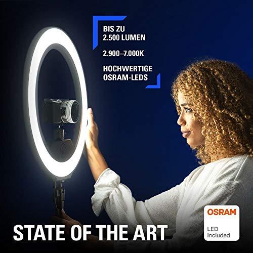 Elgato Ring Light, Premium Ringleuchte, 2.500 Lumen, Multi-Layer-Technologie, Farbtemperatur einstellbar, App-Steuerung für Mac, Windows, Android