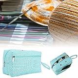 Xndz Crochet Bag, Crochet Tote Bag, Knitting Tote Bag para Ganchos de Ganchillo Agujas de Tejer Madejas de Hilo Pequeños Accesorios