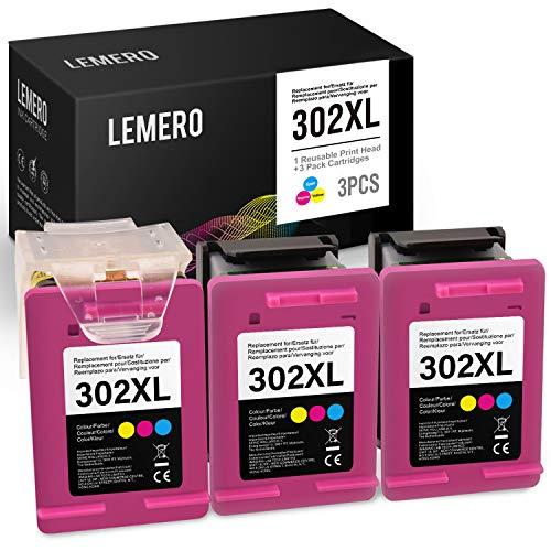 LEMERO 3 Wiederaufbereitet Druckerpatronen für HP 302XL 302 XL Farbe für HP 3833 3834 3830 3832 4650 4654 3630 2130 1110 4522 4524 4525 4520