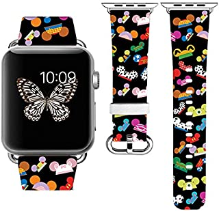 Replacement Band Strap Compatible with Apple Watch iWatch with adapters 42-44mm or 38-40mm iWatch Band Series 1 Series 2 Series 3 Series 4 Length S/M or M/L (42-44mm S/M)