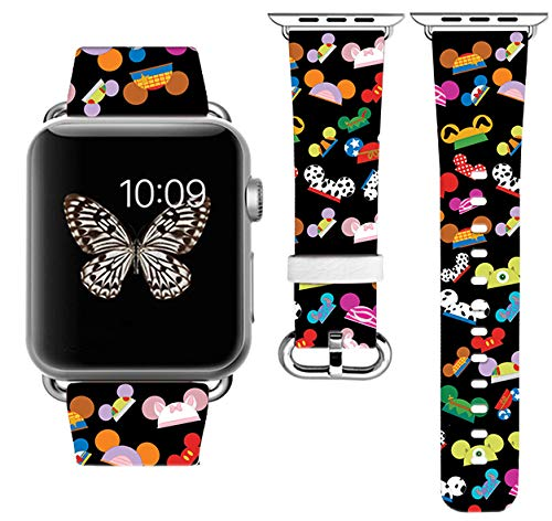 Replacement Band Strap Compatible with Apple Watch iWatch with adapters 42-44mm or 38-40mm iWatch Band Series 1 Series 2 Series 3 Series 4 Series 5 Series SE Series 6 Length S/M or M/L (42-44mm M/L) (42-44mm S/M)