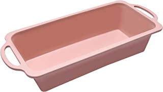 Rectangular Cake Silicone Mold Pan,Stainless Steel Ring,High Temperature Resistant and Easy to Clean,Silicone Bakeware Hom...