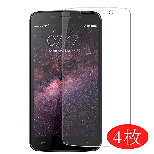 【4 Pack】 Synvy Screen Protector for HomTom HT7 Pro 0.14mm TPU Flexible HD Clear Case-Friendly Film Protective Protectors [Not Tempered Glass] New Version