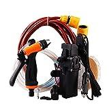 QiKun-Home Lavado de Autos portátil Pistola de Agua de Alta presión Car Beauty Water Spray Gun Kit de Bomba de Agua eléctrica Negro