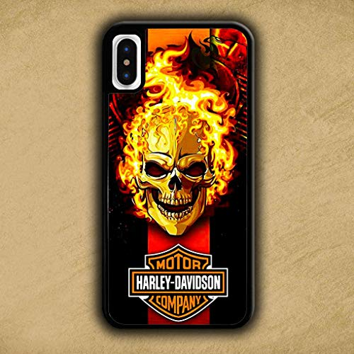 BLPHCOVE HERLEY XEVIXSVN Skull UIRE Printied Cover iPhone X/Cover iPhone XS Case Cover UJKTLS Black Soft Silica Gel TPU Shockproof Phone Cases R773H8