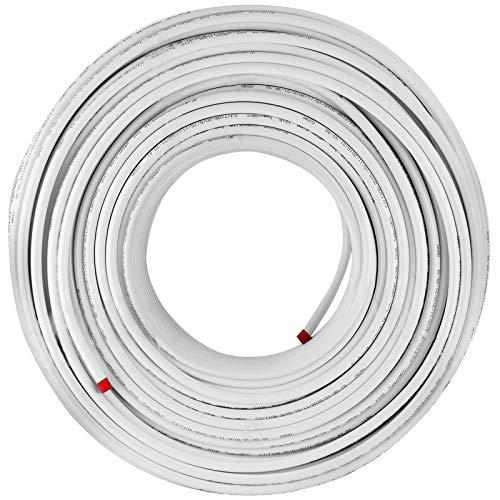 VEVOR Tubería Suelo Radiante 300 m Pex al Pex Tubo de Aluminio Temperatura -40~95 ℃, Tubo Pex al Pex, Tubería Multicapa Tubería de Oxígeno-Calefacción para Calefacción de Suelos Radiantes Color Blanco