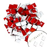 MagicFox Strip Light Mounting Clips, 120pcs 3M Adhesive Cable Organizer Cord Holder for 11mm(3/8') Wide Strip Light, Cable Clip for Car, Office, Home and LED Strip Light (For 11mm(3/8') White)