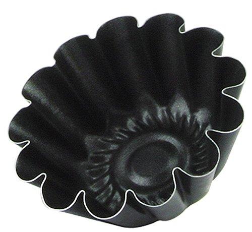 Grilo 412509 Lot 4 Petit Moule à Brioche 9 cm - Dulce, Autre, Noir