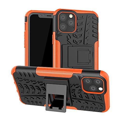 JIAHENG Caja del teléfono Funda Protectora para iPhone 11 Pro, TPU + PC Bumper Híbrido Híbrido de Calidad Militar, Caja de teléfono a Prueba de Golpes con Soporte Cubierta de Cuero