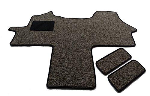 Fahrerhaus Teppich & Einstiege 3-teilig Schmutzfangmatte in 6 Farben (Braun)